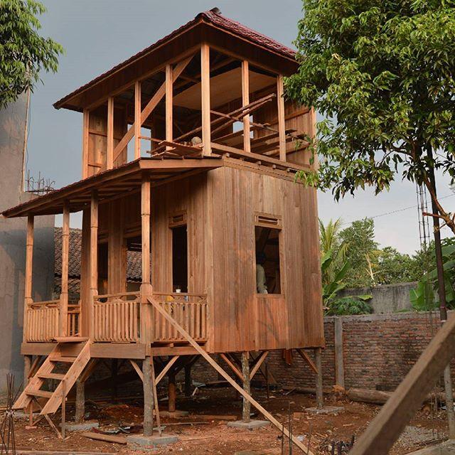 Jual Rumah Kayu I Rumah Panggung Palembang I 081373447722 Rumah