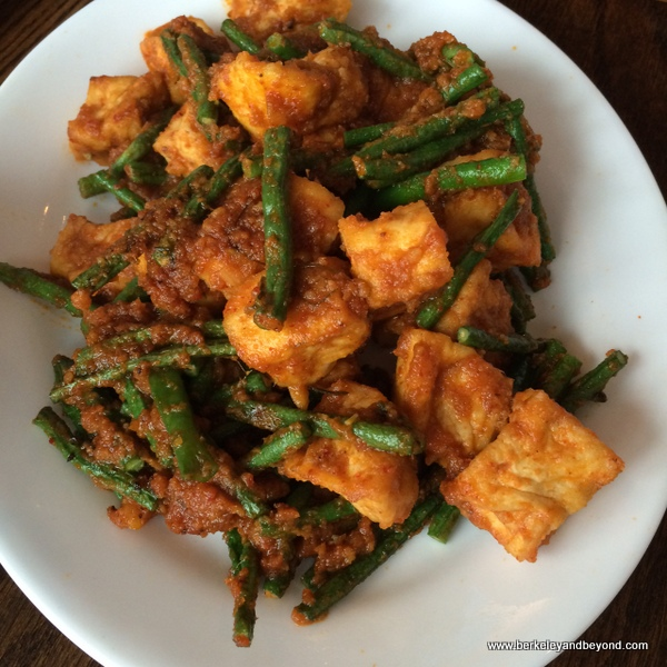 Pad Prik King with green beans at SriPraPhai in Woodside, Queens, NYC