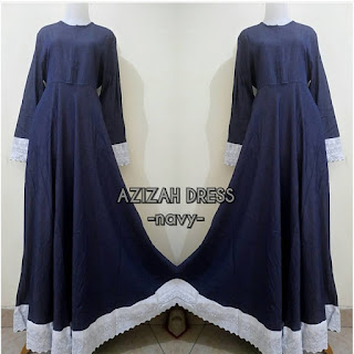 Azizah Dress Navy
