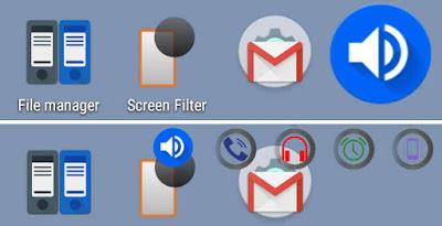 Floating widget on volume button apk