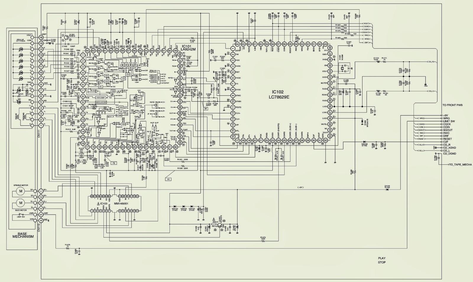 sanyo dc-da2000 - schematic (circuit diagram) - micro ... sanyo tv schematic diagram