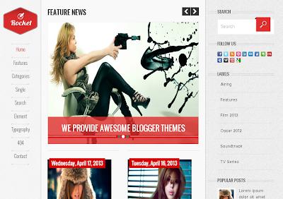Rocket - Plantilla Responsive Blogger