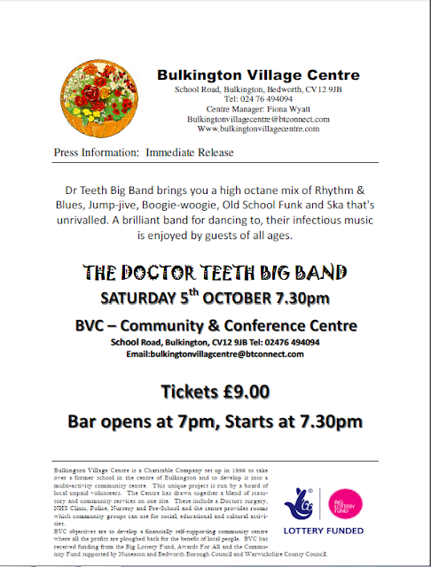 BRAMCOTE and KINETON HIVE: The Doctor Teeth Big Band