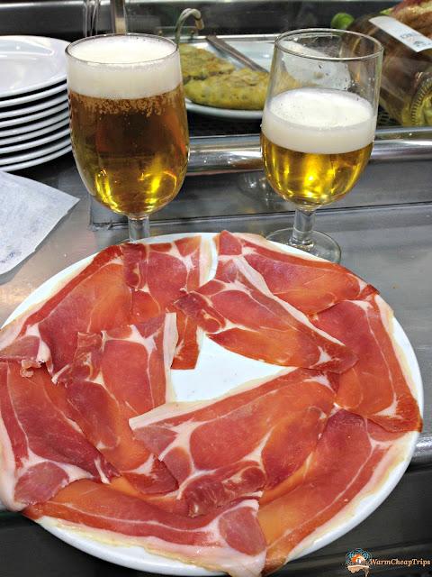 Museo del Jamon, Madrid, dove mangiare a madrid, churros, jamon, montaditos, bocadillo de calamares, cibo a madrid, piatti spagnoli