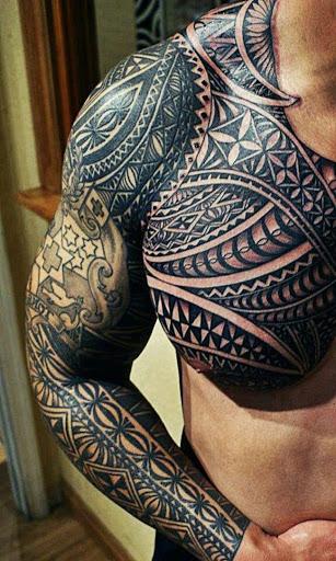 Este detalhada da polinésia tatuagem