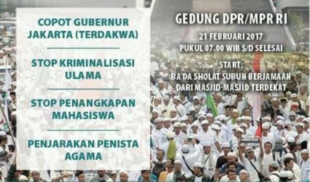 Tuntut Ahok Lengser, FUI Akan Gelar Aksi Bela Islam 21 Februari