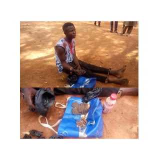 Graphic: Teenager caught with fresh body parts in Anambra