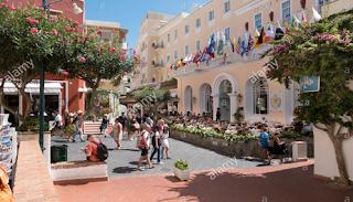 Beautiful Streets of Capri Town Italy