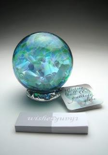 Image: Handblown Wishing and Gratitude Globe