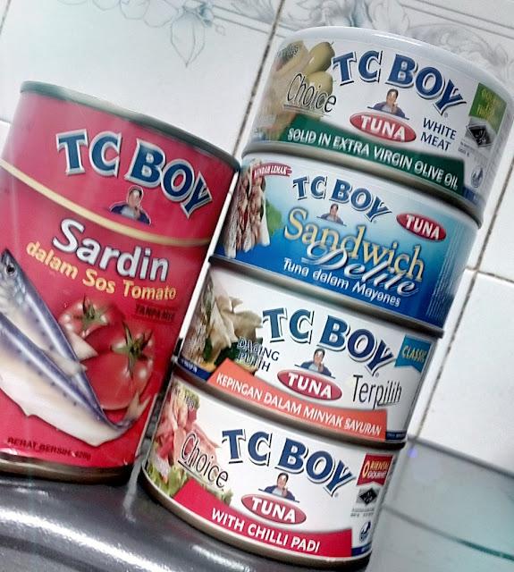 Variasi makanan dalam tin dari TC Boy