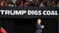 Trump digs coal (Credit: Mandel Ngan / AFP / Getty Images) Click to Enlarge.