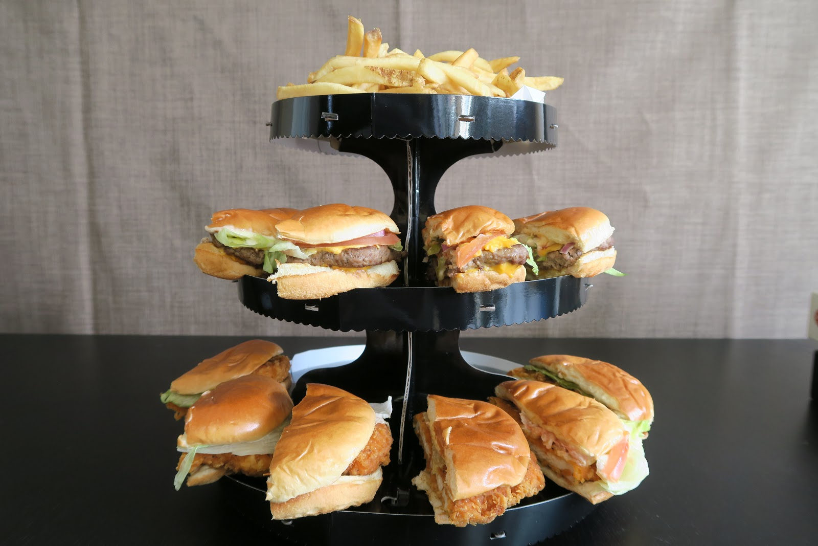 Burger and Fries Tower
