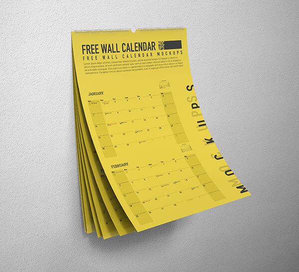 Mockup PSD Kalender 2019 Terbaru - Free Wall Calendar Mockup PSD
