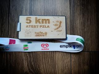 Medal Bieg na 5 kilometrów podczas Festiwal Biegowy im. Piotra Nurowskiego