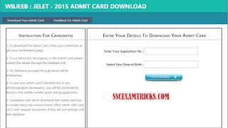 WBJEEB JELET Admit Card 2015