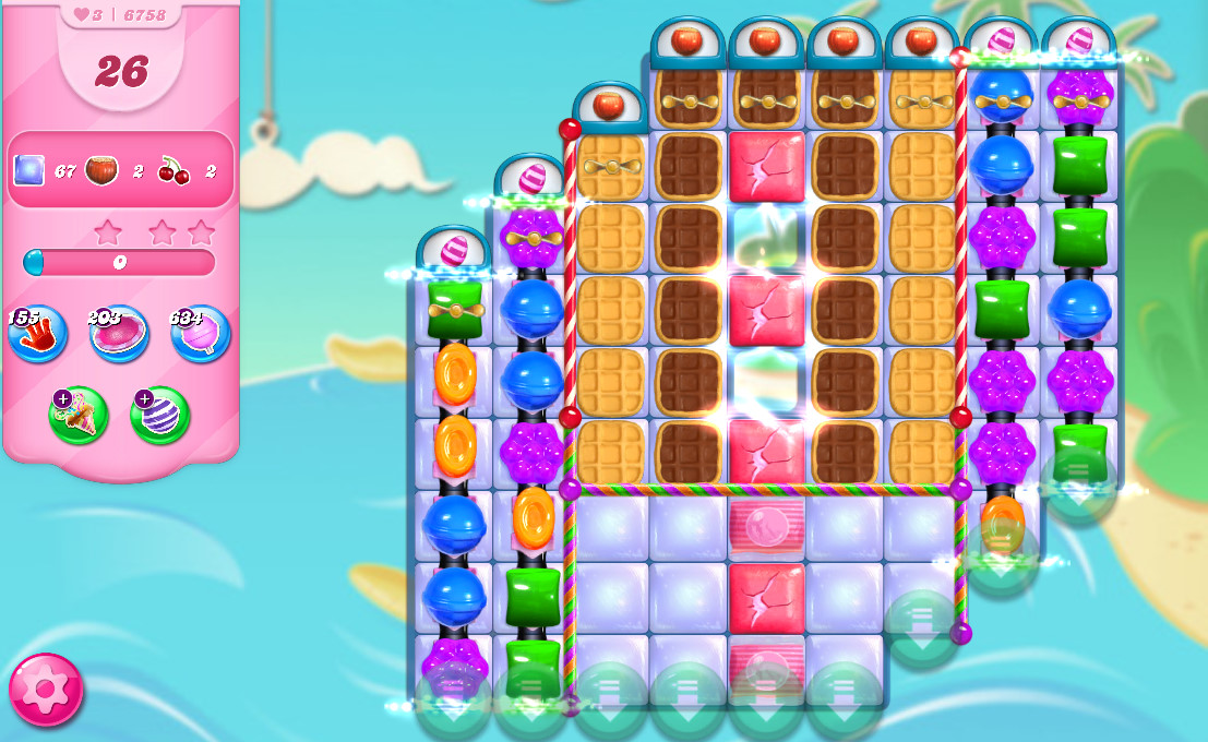 Candy Crush Saga level 6758