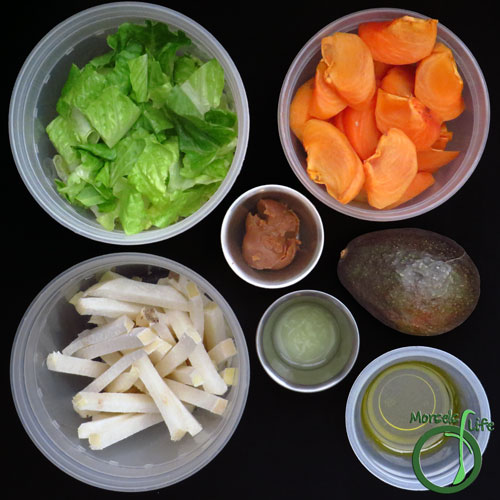 Morsels of Life - Jicama Persimmon Miso Salad Step 1 - Gather all materials.