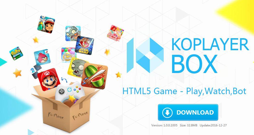 جرب وأستمتع بأقوي ألعاب ال HTML5 مع محاكي Koplayer Box للأجهزة الضعيفة والمتوسطة