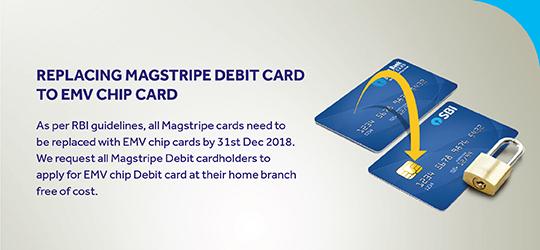 Replacing p Card Debit Card to EMV card