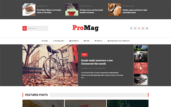 ProMag Free Blogger Template