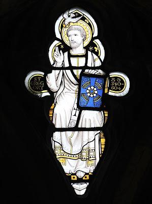 Imagem do Papa São Gregório I, vitral, #1