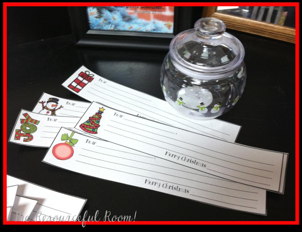 Classroom Freebies Christmas Kindness Tags