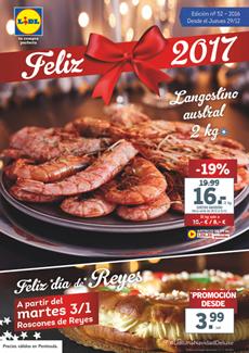 """Catálogo Lidl """"Feliz 2017"""""""