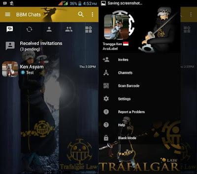 BBM MOD Trafalgar Law (ONE PIECE) Update Apk Tanpa Iklan
