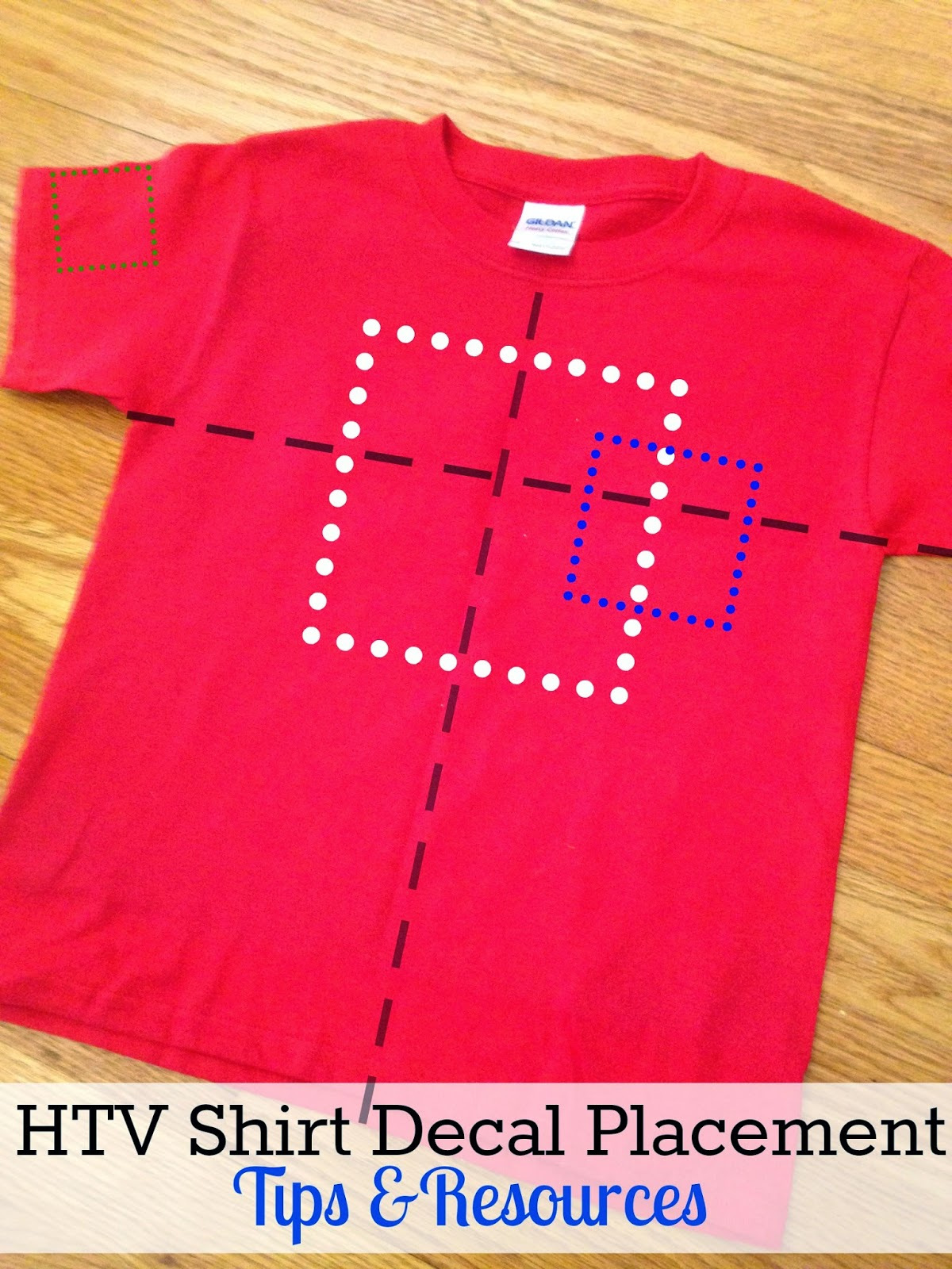 HTV Shirt Decal Placement and Size Tips and Resources ...