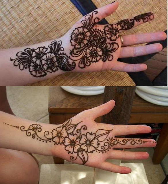 Simple Arabic Mehndi Design For Both Hands