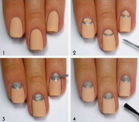 half moon nail art tutorial