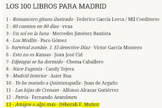 Amigos o algo más entre los 100 libros para Madrid