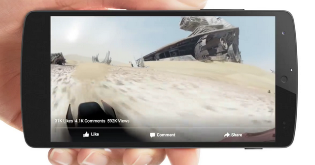Video 360 derajat Facebook Android Gyroscope
