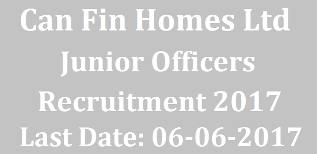 latest jobs, All India Jobs, Bank jobs, Junior officer, Can Fin Homes Ltd, Recruitments
