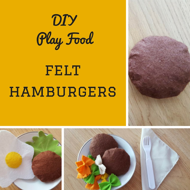 DIY Felt play food - hamburgers