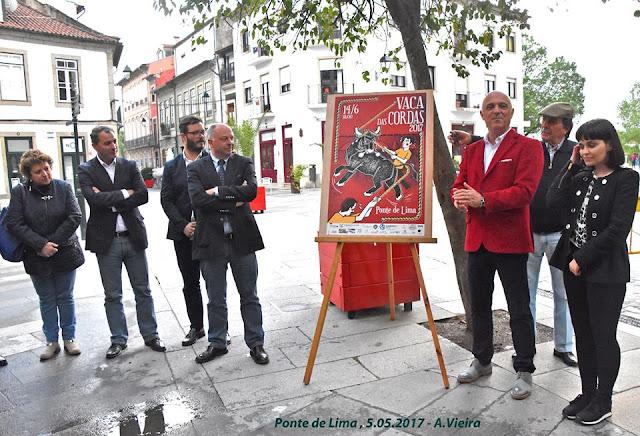 Apresentação do cartaz da Vaca das Cordas 2017 em Ponte de Lima