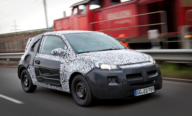 Vauxhall Adam in disguise from the side