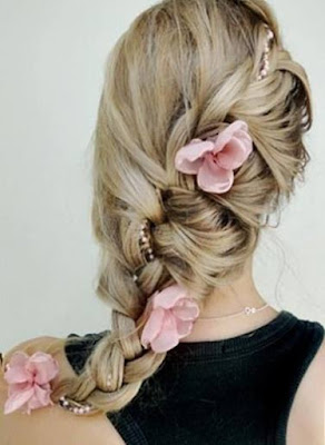 Easy Chic Braided Prom Wedding Hairstyle