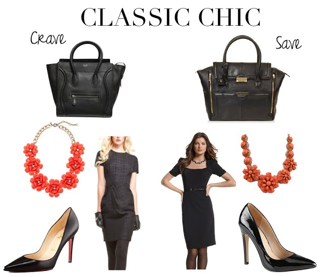classic chic styles black dress black pumps statement necklace