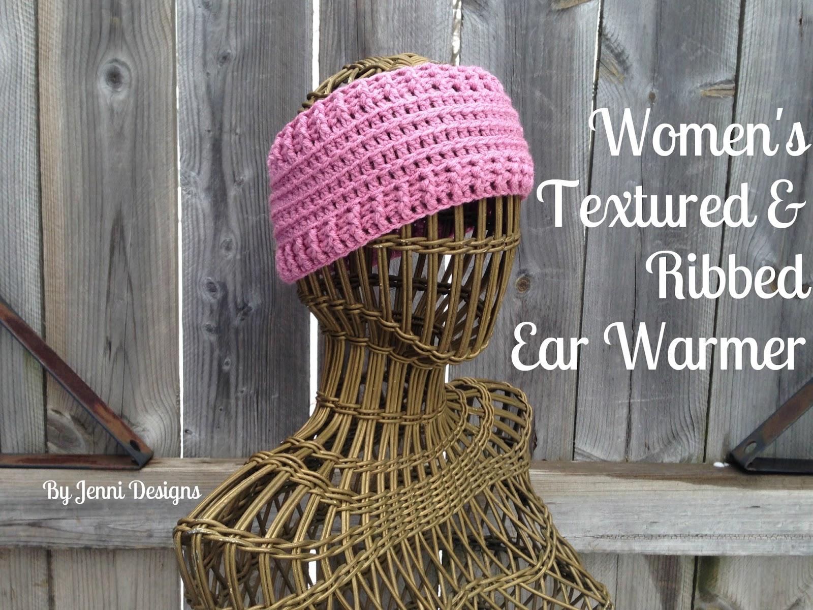 By Jenni Designs: Free Crochet Pattern: Women\'s Textured & Ribbed ...