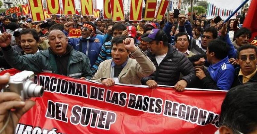 SUTEP regionales rechazan aumento de sueldo de S/. 200 y anuncian huelga