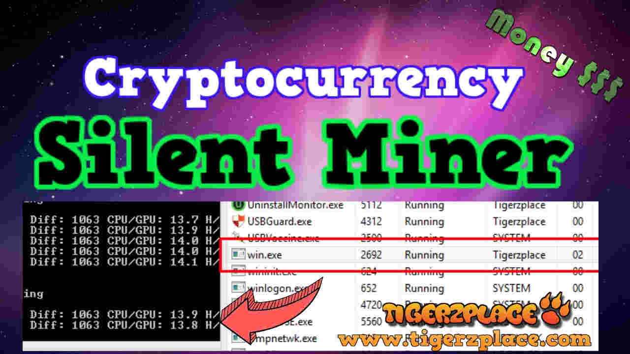 How to make any Cryptocurrency Silent Miner -- Minergate