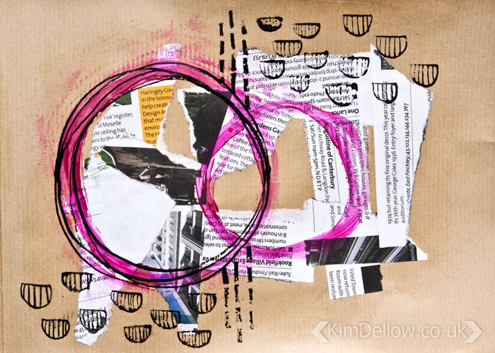 Kraft Paper art journal pages, Abstract 4 by Kim Dellow