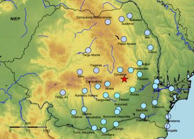 földrengés, INFP, Románia