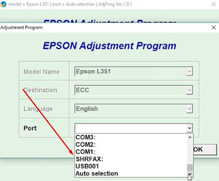 How to reset Epson L351