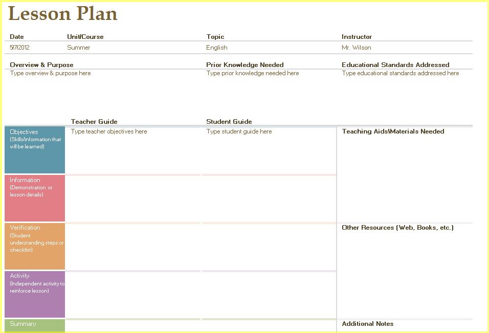 Pre K Teacher Resume Resume Business Template Free Teacher Lesson – Sample Simple Lesson Plan Template