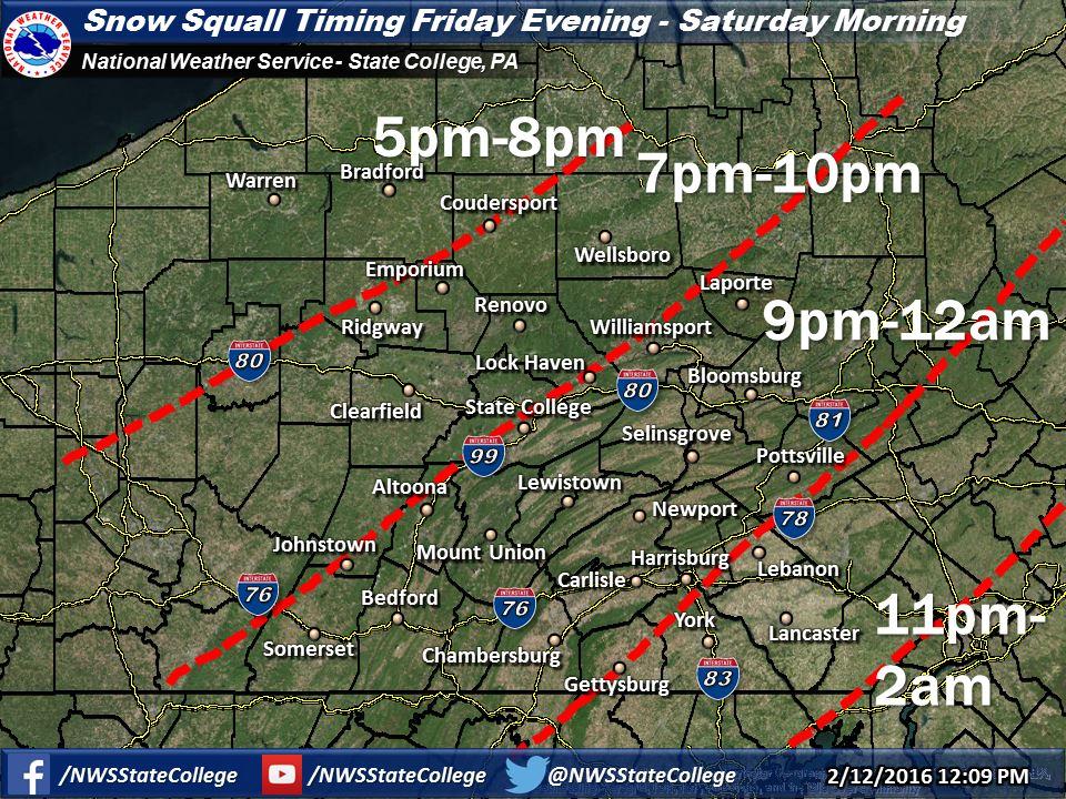 Skook News: Friday's Schuylkill County Weather Forecast - 02/12/16