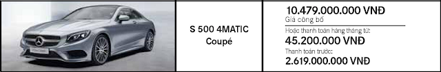 Giá xe Mercedes S500 4MATIC Coupe khuyến mãi tốt nhất