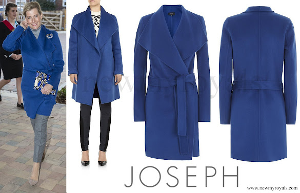 Sophie Countess of Wessex wore JOSEPH Lisa Long Cashmere Wrap Coat