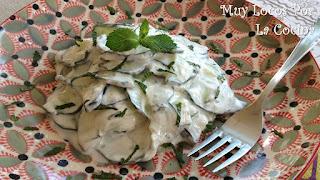 Ensalada de Pepino, Yogur y Menta Fresca
